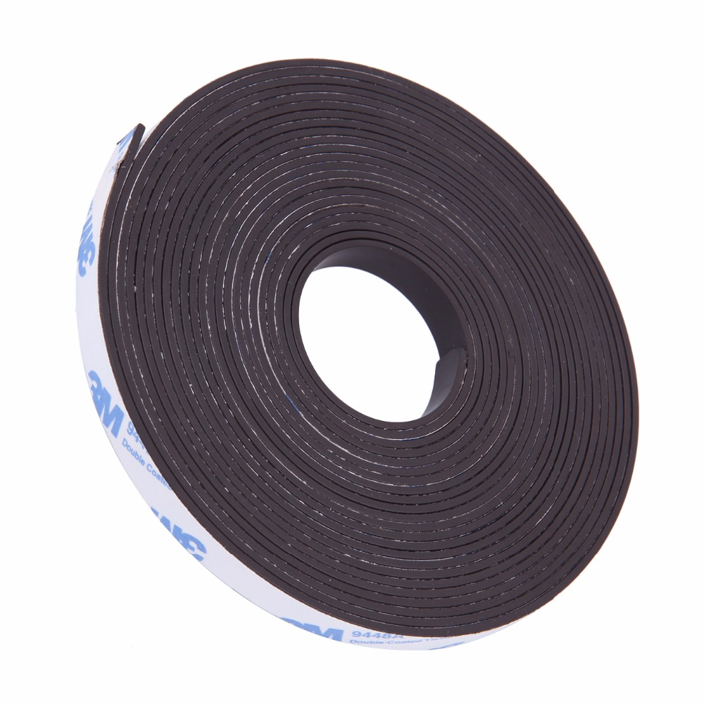 5M Flexible Self Adhesive Magnet Rubber Tape Magnetic Powder Roll Craft Strip 5pcs magnet sheet a4 thickness 1mm rubber magnetic strip tape flexible magnet diy craft tape