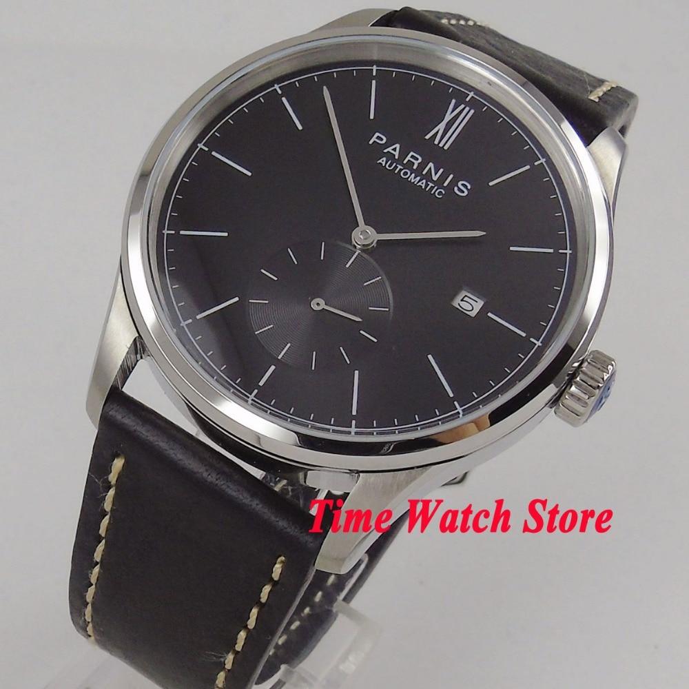 Multiple choices 42mm Parnis golden case black dial DATE 5ATM ST1731 Automatic movement men's watch wrist watch 1037 цена и фото