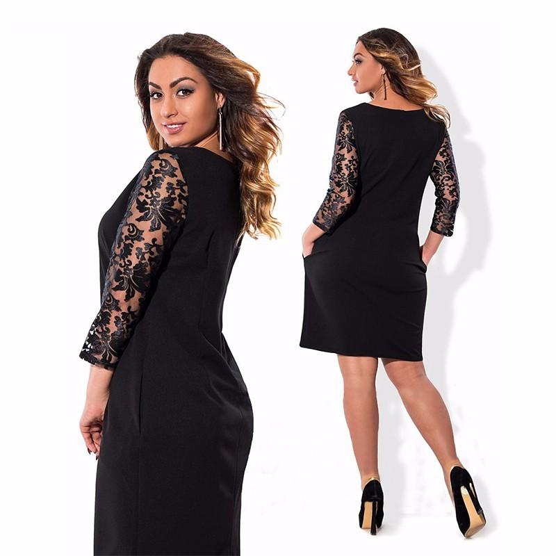 HTB16pRuOVXXXXaXXVXXq6xXFXXXX - Women Bodycon Bandage Big Size Black Lace Sexy Party Dress-Women Bodycon Bandage Big Size Black Lace Sexy Party Dress