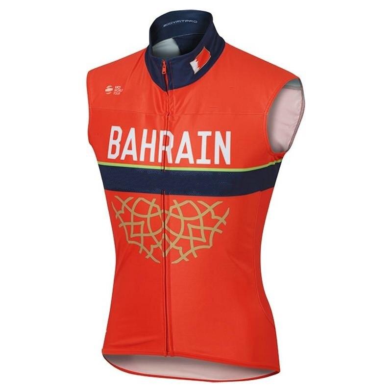 2018 invierno fleece equipo bahrain ciclismo chaleco súper transpirable cálido viento jerseys Chaleco de secado rápido ropa de bicicleta maillot