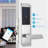 Безопасность электронный дверной замок, приложение wifi умный сенсорный экран блокировки, цифровой код клавиатуры Deadbolt для дома отель кварти...
