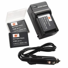 DSTE 3PCS NP FT1 FT1 Battery Case Protector Travel and Car Charger for Sony DSC M1