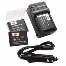 DSTE 3PCS NP-FT1 FT1 Battery Case Protector + Travel and Car Charger for Sony DSC-M1 DSC-M2 DSC-T1 DSC-T10 DSC-T10/B