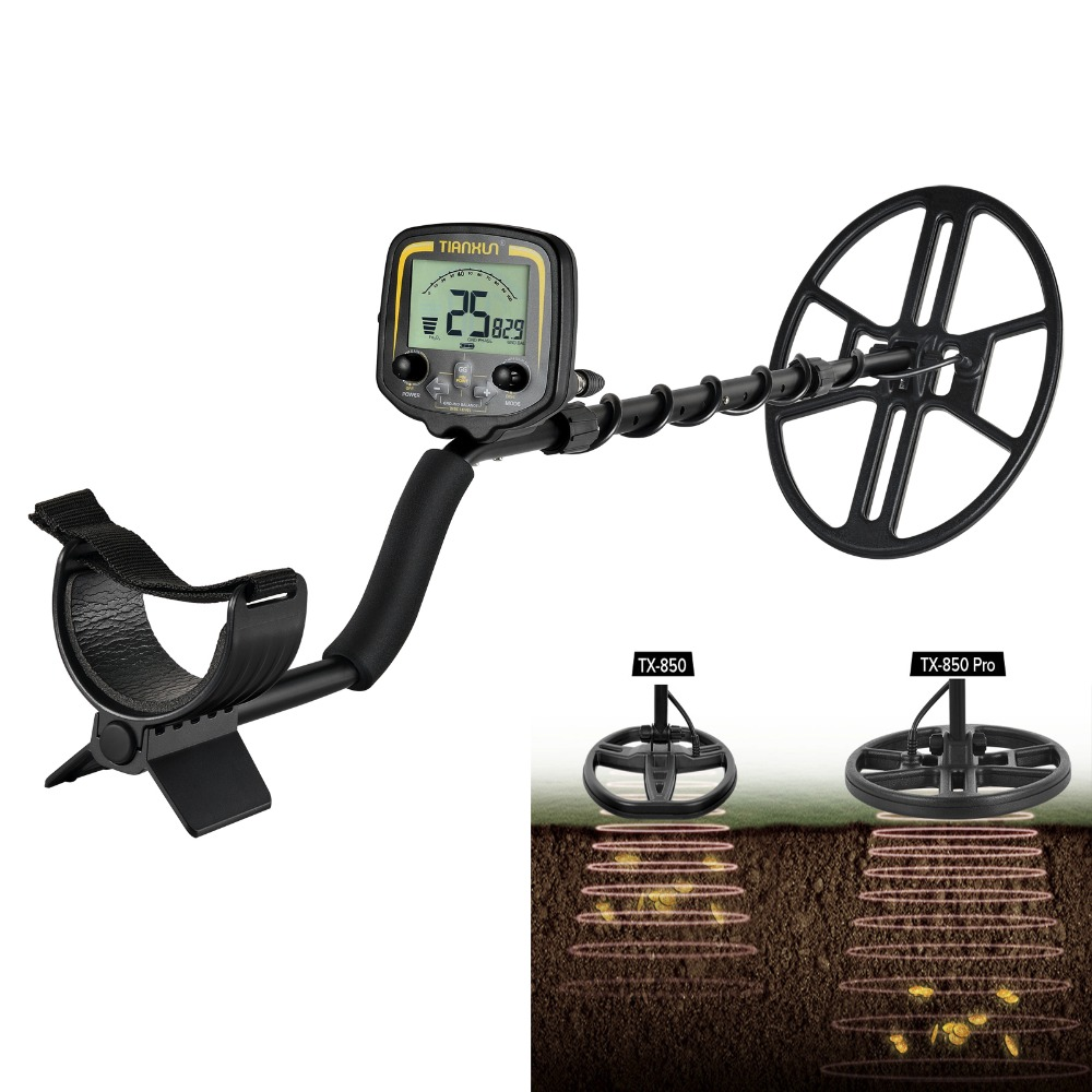 TX-850 Pro With 14'' Big Coil Professional Underground Metal Detector Test Deeper Scanner Gold Digger Treasure Hunter Detecting new arrival tx 850 metal detector professional underground gold detector tx 850 treasure hunter tx 850 updated version
