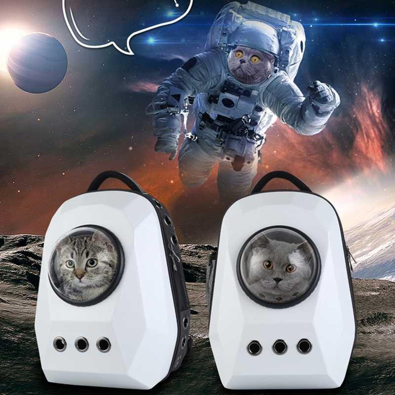 5383512320 DREAMSOULE Space Capsule Pet Carrier Backpack Waterproof Handbag Backpack  Diamond Shaped Space Cabin Travel Cat Dog