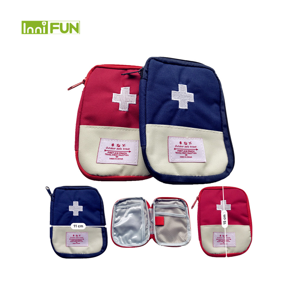 Camping & Hiking Small Medical Bags Portable Camping Transparent Waterproof Survival Medical Storage Bag First Aid Kit 17x7x12cm Hiking Supplies