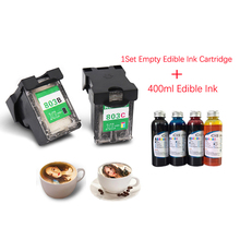 einkshop Empty Edible Ink Cartridge + 400ml Edible Ink For Coffee Printer Food Printer for Epson Hp Inkjet Printers 1000ml 6 edible ink suit for epson