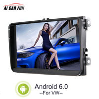 9 inch Android 6.0 System Full HD Car 12V Player with GPS Navigaton Wifi Bluetooth USB 2 Din FM Radio For VW Multimedia Player