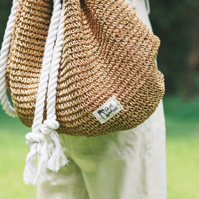 Straw Weaved Bagpack for girls