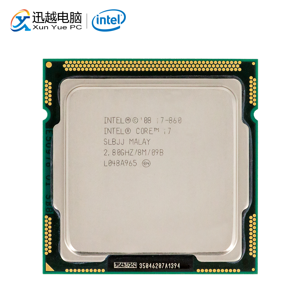Intel Core i7 860 Desktop Processor i7-860 Quad-Core 2.8GHz 8MB L3 Cache LGA 1156 Used CPU image
