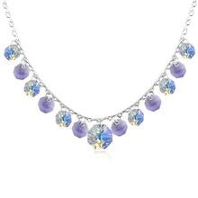 Nueva Bohemia Collar de La Borla de Cristal Collar Hecho con Los Elementos de Swarovski Mujer Joyería de La Boda