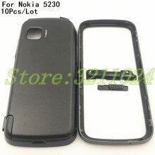 bb0d94edd54 10 unids/lote para Nokia 5230 nuevo completa cubierta de la carcasa del teléfono  móvil caso + Teclado + logotipo