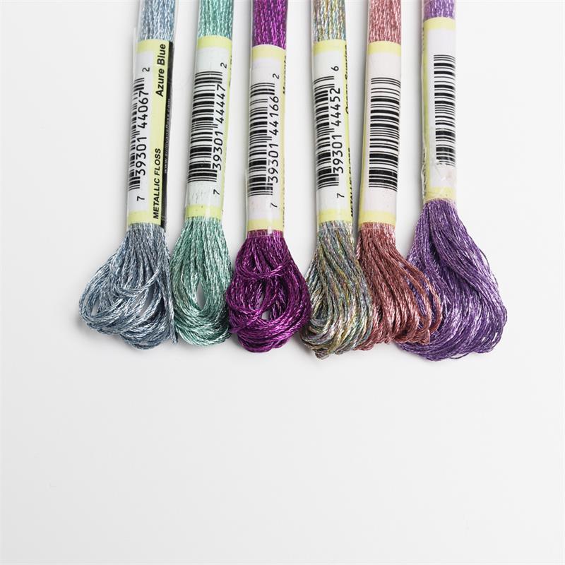 Premium Metallic Embroidery Thread-Cross Stitch Threads-Crafts Thread Bracelet thread-6Skeins Six Strand Embroidery Floss Gold