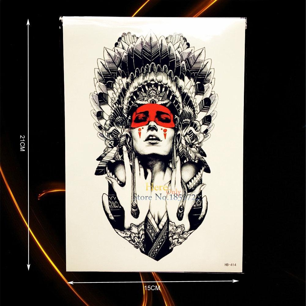 Tribal-Tattoos Hot-Indian-font-b-Tribal-b-font-Warrior-Temporary-font-b-Tattoo-b-font-Men-Fake