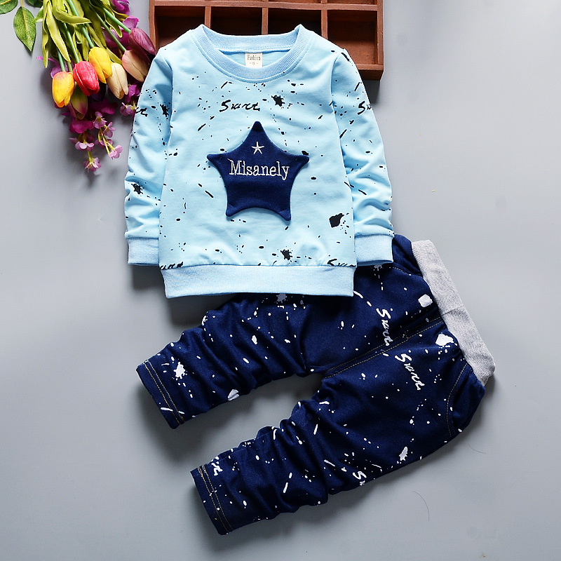 ViGarBear baby boy clothes new style 2018 fall and winter clothes baby boys girls child sports suit (jacket+pants)