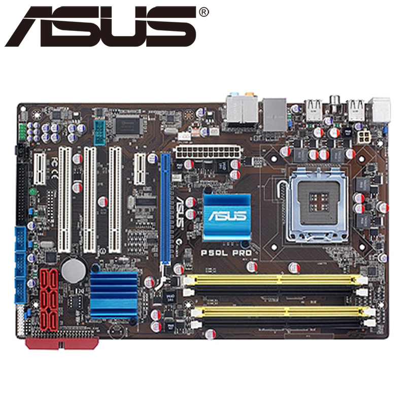 Asus P5QL PRO Desktop Motherboard P43 Socket LGA 775 Q8200 Q8300 DDR2 16G ATX UEFI BIOS Original Used Mainboard On Sale asus p8h61 m le desktop motherboard h61 socket lga 1155 i3 i5 i7 ddr3 16g uatx uefi bios original used mainboard on sale