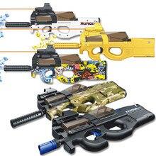 Gold Elektronische P90 Spielzeug Gewehr Pistole Paintball Assault Snipe Waffe Weiche Wasser Kugel Pistole mit kugeln Spielzeug Für Kinder geschenke