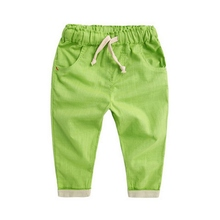 Hot Sale Spring Boy Candy Color Trousers Kids Harem Pants Children Lovely Toddle