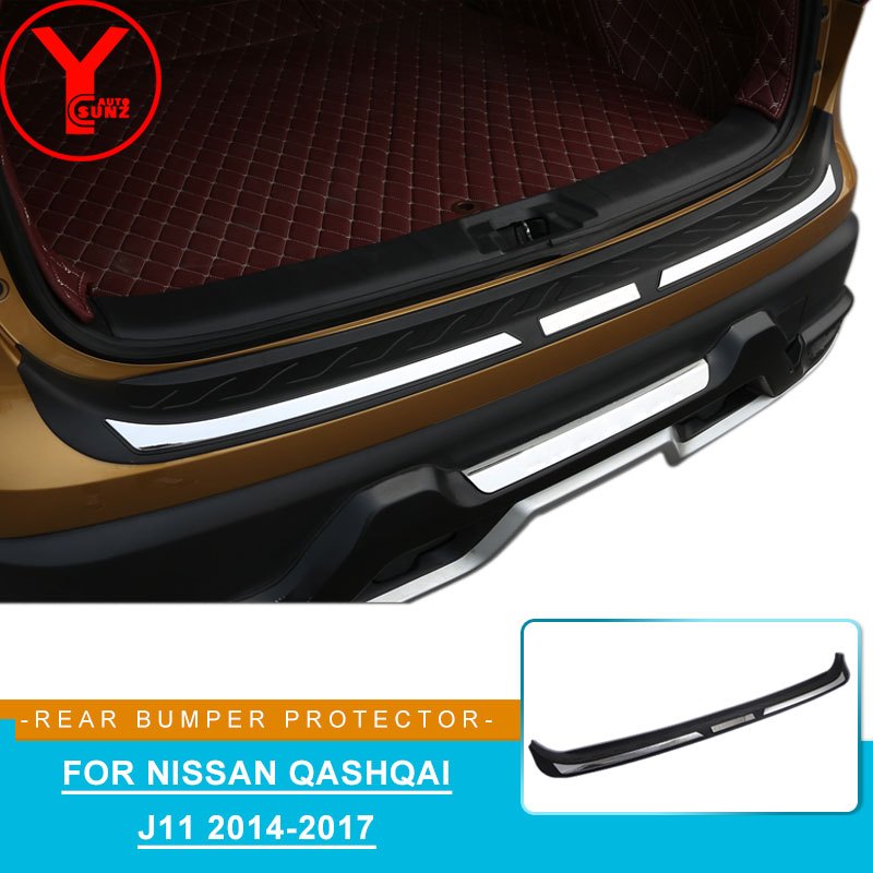 ABS rear bumper protector For <font><b>nissan</b></font> <font><b>qashqai</b></font> j11 2014 2015 2016 <font><b>2017</b></font> car parts <font><b>accessories</b></font> For <font><b>nissan</b></font> <font><b>qashqai</b></font> <font><b>accessories</b></font> YCSUNZ image