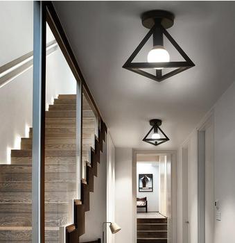 Led Tavan Işıkları Oturma Odası Lambaları Aydınlatma Için Işık Amerikan Retro Endüstriyel Balkon Sundurma Çatı Demir Ve Fenerler