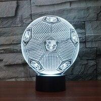 3D USB Della Novità Luci FCB Football Club LED Touch Lampada luci Scrivania Luminaria Lampada calcio Calcio Night Lights 3D di Visual
