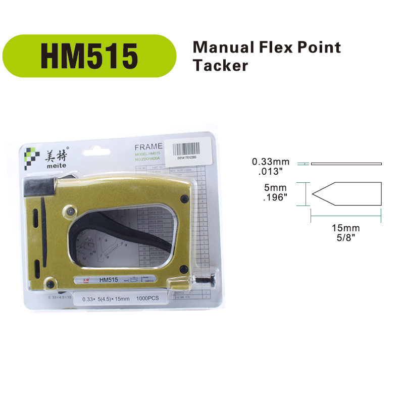 Meite HM515 Picture Frame Gun Manual Flex Point Tacker Framing Tools Tacker Gun With 1000pcs Staples Jun.14 Update Tool