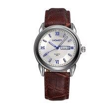 2016 Moda Famous Casual Masculino Deporte Relojes de Cuarzo Marca de Fábrica Superior de Cuero de Lujo Doble Calendario Hombres Reloj de Pulsera Relogio masculino
