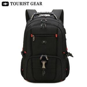 Image 5 - Mochilas suíças dos homens bolsa de viagem negócios anti roubo mochila masculino usb de carregamento 15.6 17 polegada portátil mochila à prova dwaterproof água