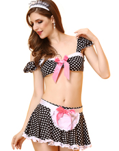 Sissy Girl Sexy French Maid Uniform w/ Pink Lace