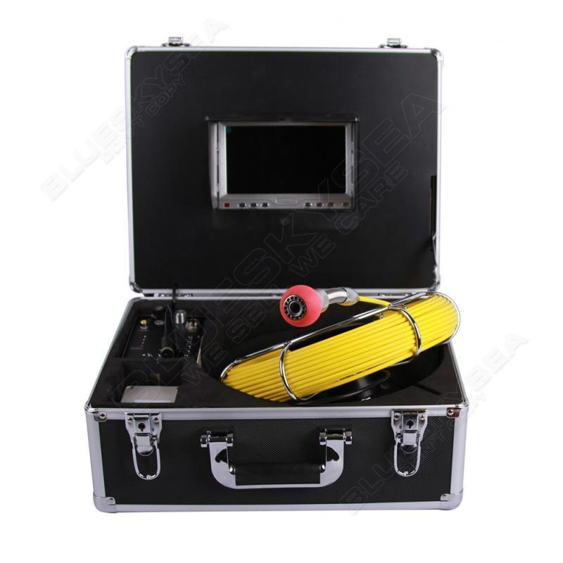 Eyoyo 30M Sewer Waterproof Video Camera 7 LCD Screen Drain Pipe Inspection DVR 12 Led Free shipping eyoyo 7 lcd screen 20m 800 480 1000tvl 4500mah sewer drain camera pipe wall inspection endoscope w keyboard dvr recording 8gb