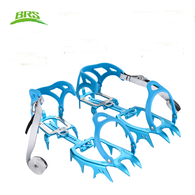 BRS-S3 Ultralight 480g Crampons 14-Teeth Non-slip Claws Outdoor Hiking Climbing Ice Gripper цена 2017
