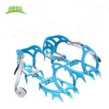 Brs BRS S3 14 dentes liga de alumínio empacotados crampons gelo gripper ultraleve ao ar livre escalada gelo kits ultra leve