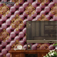 Beibehang Modern Wallpaper Living Room TV Background Wall Bag Wallpaper Sofa Background Photo Studio Wedding Shop