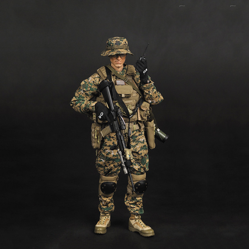 1/6 Scale USMC Full Set Action Figures for Toys Gifts Collections 12pcs set children kids toys gift mini figures toys little pet animal cat dog lps action figures