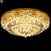 Modern living room crystal lamp bedroom lamp led round the new exhibition hall lighting S Kim Ceiling Lights Lmy 018