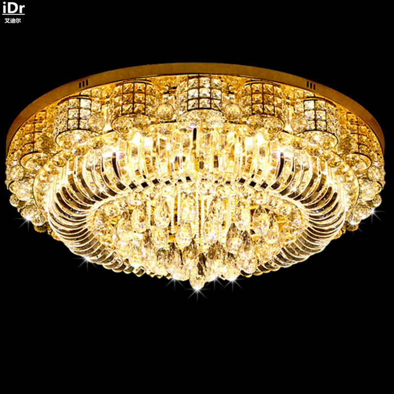 Modern living room crystal lamp bedroom lamp led round the new exhibition hall lighting S Kim Ceiling Lights Lmy-018 ...