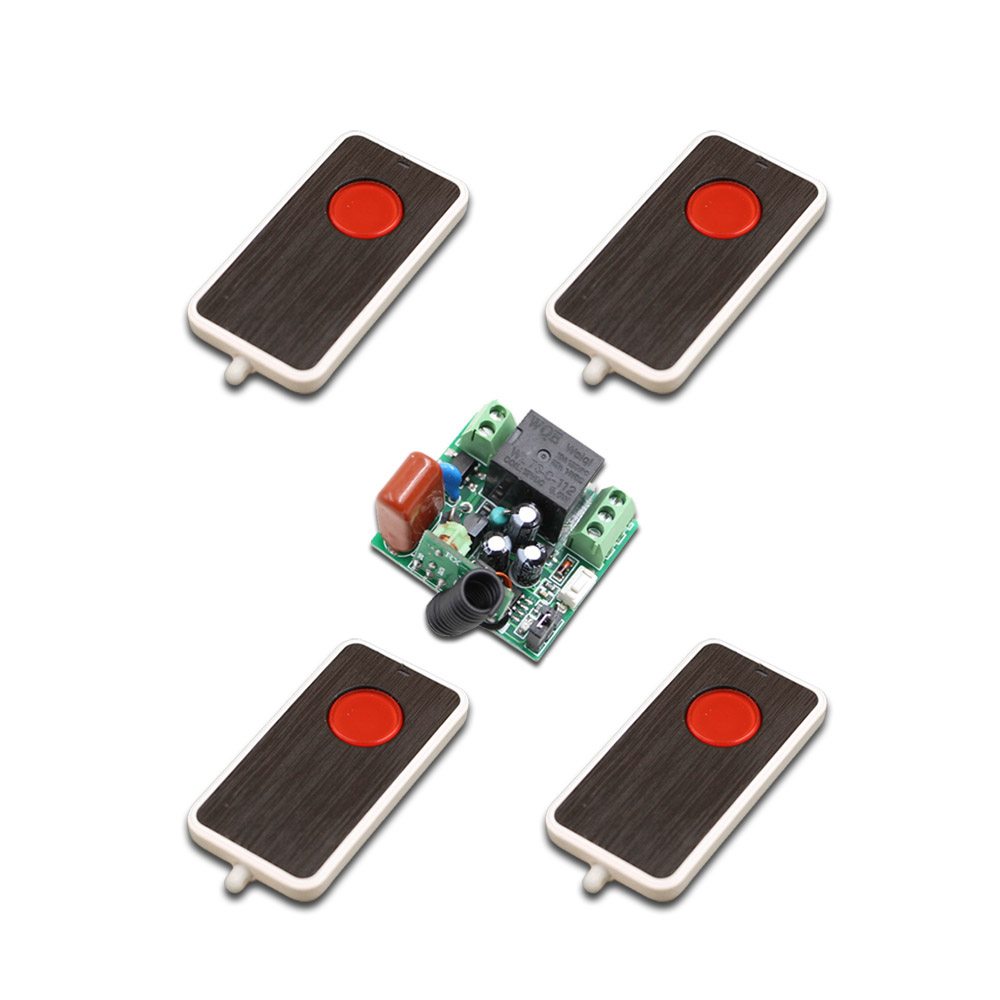 High Quality Cheap 4 Remote Transmitters + Mini Size 220V 1CH 10A Wireless Remote Control Switch Relay Receiver 315/433.92 MHZ 2pcs receiver transmitters with 2 dual button remote control wireless remote control switch led light lamp remote on off system