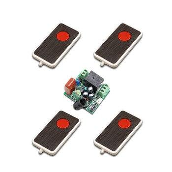 4 transmisores remotos baratos de alta calidad + Mini tamaño 220V 1CH 10A relé de interruptor de control remoto inalámbrico receptor 315/433. 92 MHZ