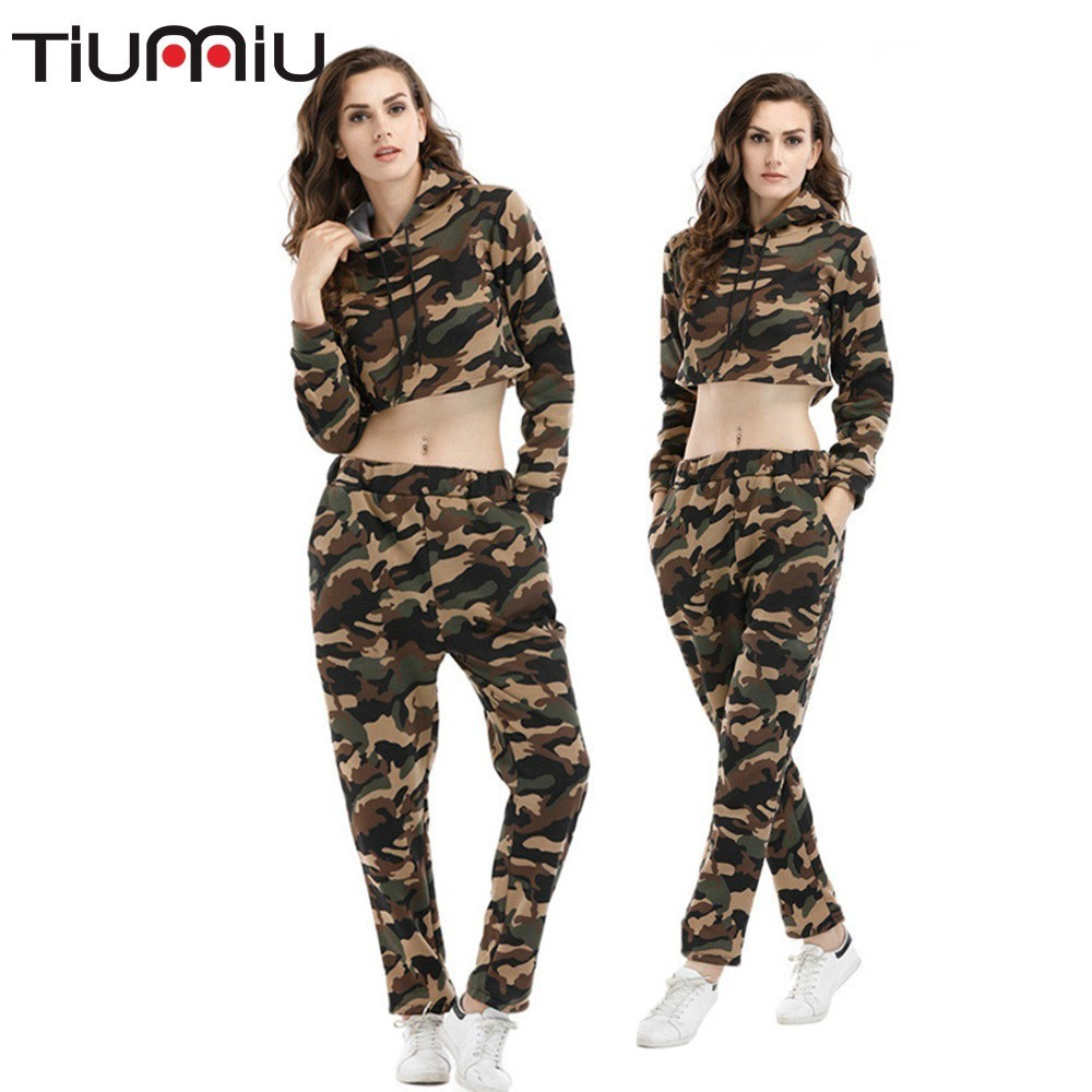 Military Army Sports Set Summer Woman Suit Sweater Camouflage Short Jacket Trousers Leisure Time Motion Multicam Uniform Askeri