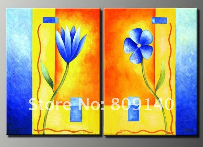 oil painting canvas flower beautiful modern decoration