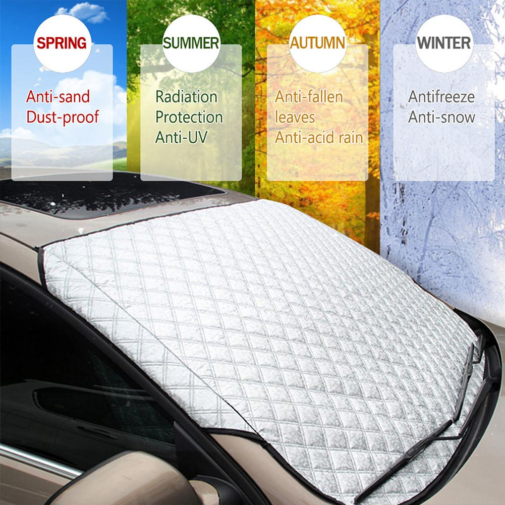 Car Windscreen Cover Anti Snow Frost Ice Shield Dust Protector Heat Sun Shade hq