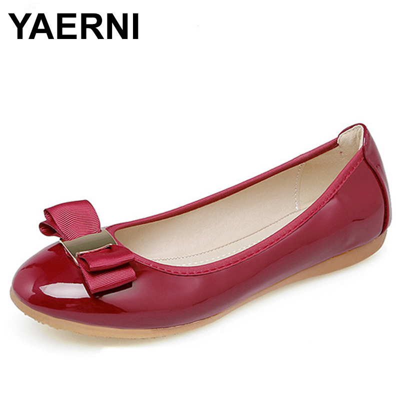 YAERNI Women Shoes Foldable Ballet Flats Spring Summer Casual Loafers Round Toe Flat Shoes Woman zapatos mujer E736 summer flat shoes women ballet flats slip on loafers women string beads round toe shoes embroidered canvas shoes zapatos mujer
