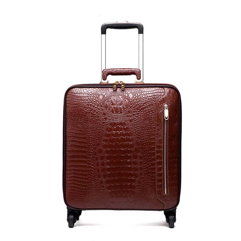 b53fe5690 קנו תיקים מזוודות ונסיעות | LeTrend Genuine Leather Rolling Luggage ...