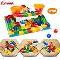 Diy montagem de construção de mármore corrida corrida jogo do labirinto bolas rastrear blocos de construção de brinquedo brinquedos educativos presente das crianças do miúdo do bebê