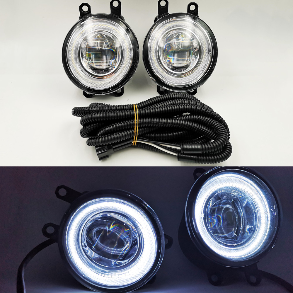 2Pcs 12V L R Car Fog Light Lamp H11 Bulb 55W Yellow Light For Toyota Camry