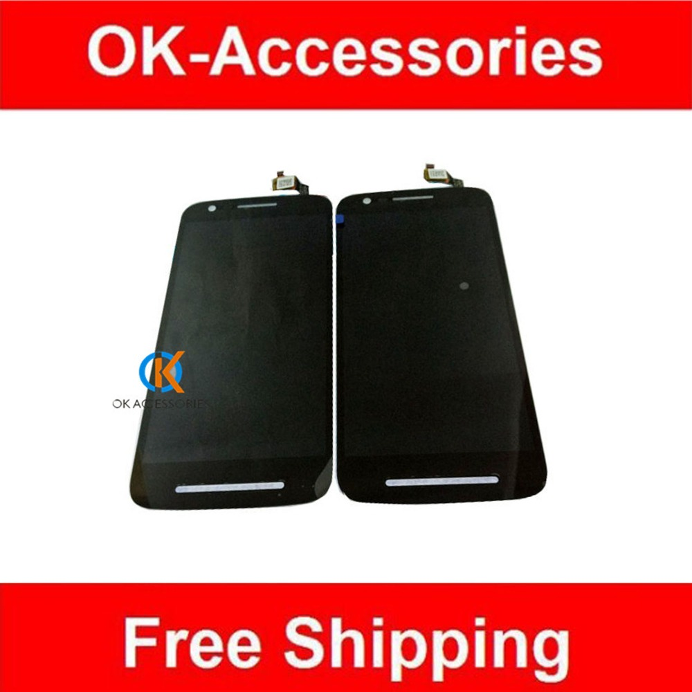 ФОТО Black Color For Motorola E3 LCD Display +Touch Digitizer Screen Assembly 1PC/Lot Replacement