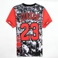 Alisister Mens Jordan Camiseta 23 Manga Curta 3D Impresso Hip Camisa Hop T 2016 dos homens Hipster Roupas Streetwear Punk Tees camisas