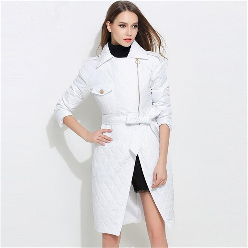 2017 New Winter Jacket Women Cotton Long Jacket Brand Clothing Women Parka Womens Long Thin Jacket Warm Coat  A3381