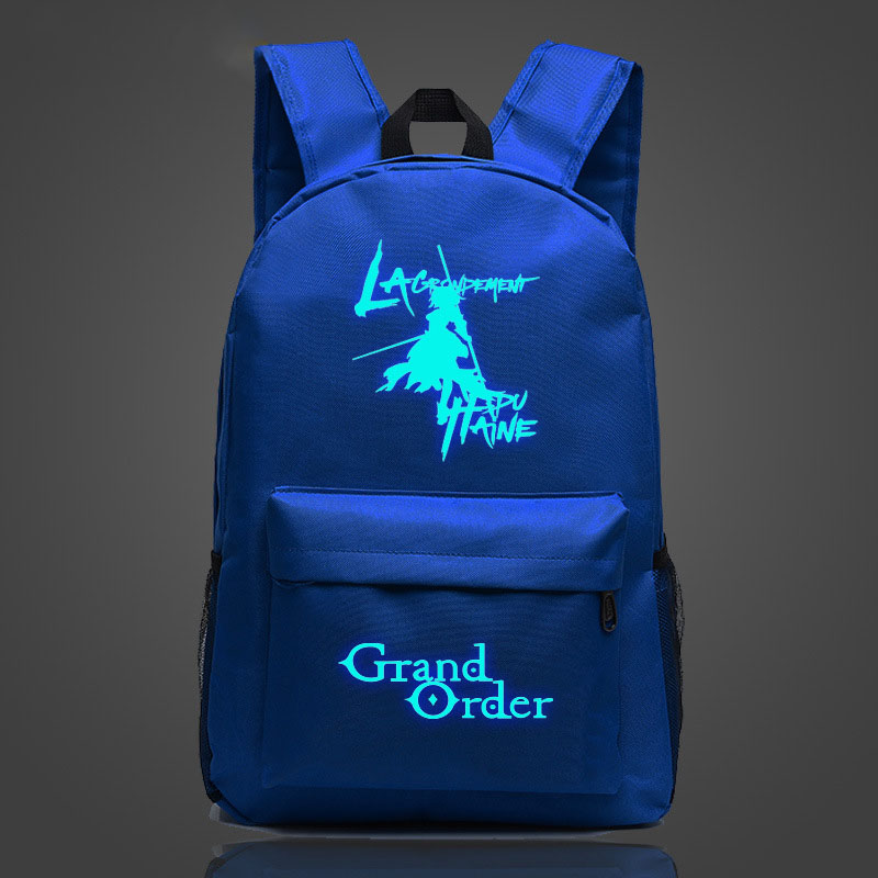 FGO Hot Game Luminous Printing Backpacks Woman 2018 Fashion Adjustable Straps Large Capacity Travel Rucksack Teenagers Schoolbag