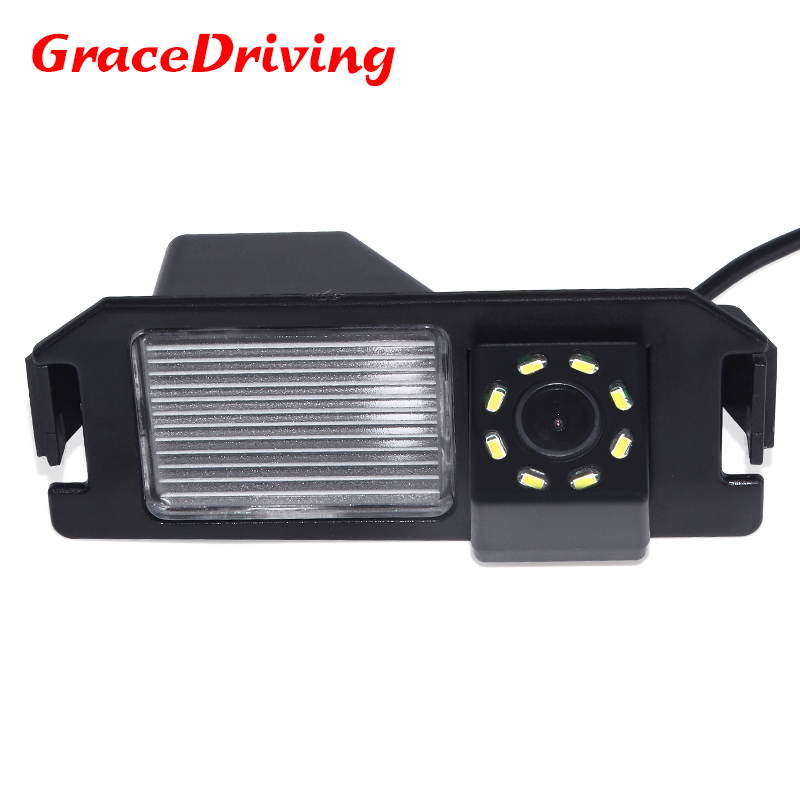 New arrival 8LED color CCD Car Reverse Rear View backup Camera parking rearview Camera For HYUNDAI I30 solaris amp  for KIA SOUL